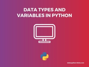 Data Types and Variables in Python