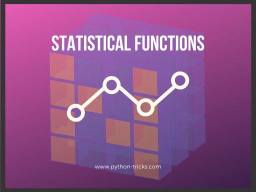 numpy statistical