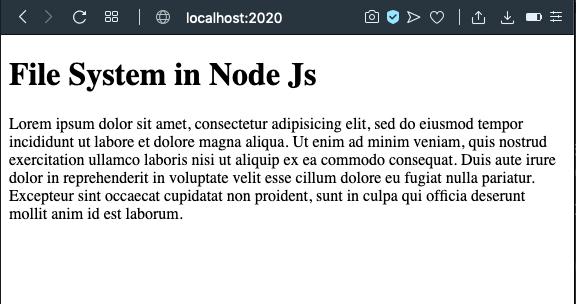 file system in node js
