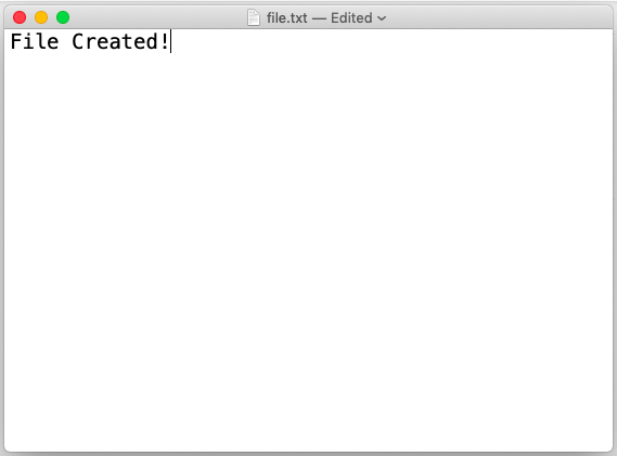 creating file in node js