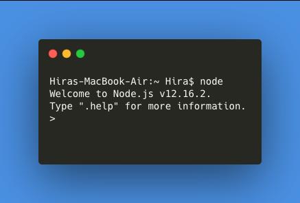 Node Js First Program