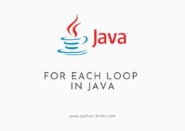 For Each Loop in Java