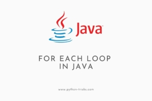 For Each Loop in Java