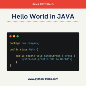 Hello World in Java